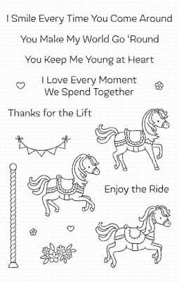 Clearstamps My Favorite Things - Carousel Horses