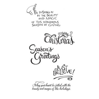 Cling Rubber Stamp Spellbinders - Christmas Sentiments