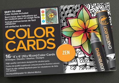 Chameleon Color Cards 10x15 - Zen - Målarböcker för vuxna - Pennor ... 928f3e9b0c59f