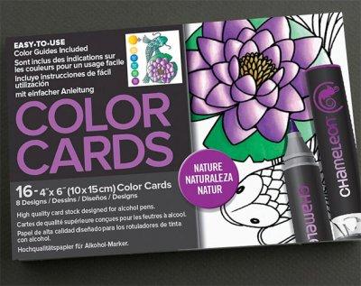 Chameleon Color Cards 10x15 - Nature - Målarböcker för vuxna ... 8bc5c1b6915d9