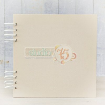Chipboard Journal Book - 20x20cm - Creme