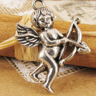 Charms 10 st - Cupid Angel 28mm
