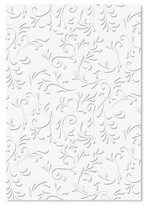 Embossed Wedding Paper A4 - Roma White 220 gsm