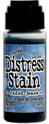 Distress Stain - Faded Jeans