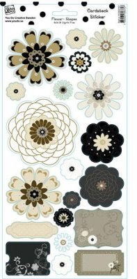 Stickers Cardstock Flower Shapes Glitter