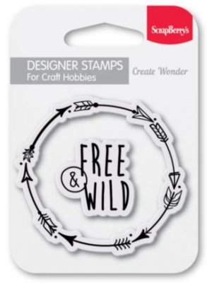 Clearstamp - Free and Wild - Scrapberry's