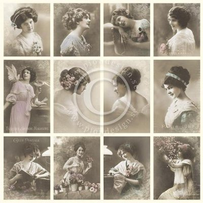 Vintage Bilder Pion Design - French Ladies