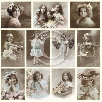Vintage Bilder Pion Design - Girls
