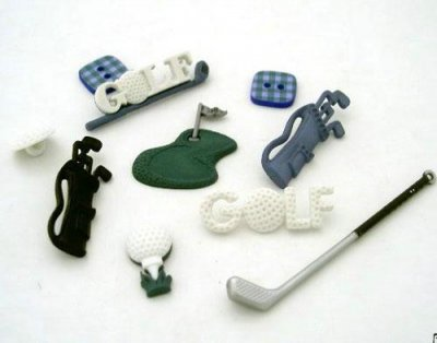 Knappar Figurer - Golf