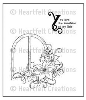 Cling Rubber Stamp - Botanical Window