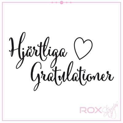 gratulation till födelsedag Stämpel Rox Stamps   Hjärtliga gratulationer med litet hjärta  gratulation till födelsedag