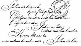 Utgår! Stämpel Magnolia - Julen är här (svensk text) - Magnolia ... 63975707f38a5