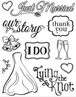 Clearstamps Set MultiCraft - Wedding Bliss