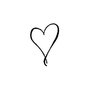 Stämpel EZ-Monterad - Litet Kalligrafi Hjärta