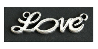 Charms 10 st - Connector Love Bar 31mm