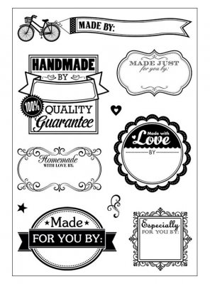 Clearstamps Kit Small - Made By Me - Hot Off the Press