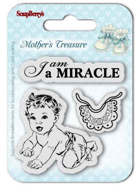 Clearstamp - I am a Miracle - Scrapberry's