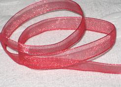 Band Organza 7mm - Warm Red