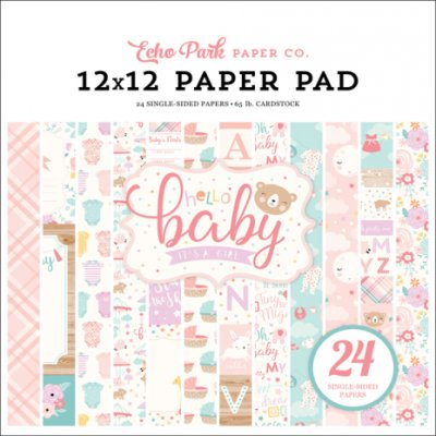 Paper Pack Echo Park - Hello Baby It´s a girl - 12x12 Tum