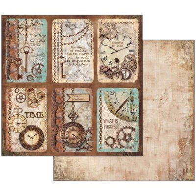 Stamperia Papper Scrapbooking Clockwise