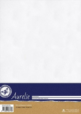 Papper A4 - Hammered Cardstock White - 10 ark