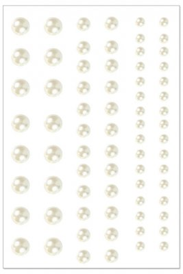 Pearls Brilliant Creme - 3-7 mm - 72 st