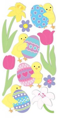 Stickers - Easter Chicks & Eggs - Sandylion