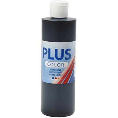 Akrylfärg BIG PLUS Color 250 ml - Svart