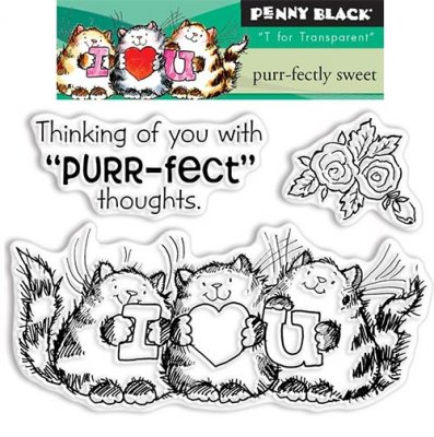 Clearstamp Set - Penny Black - Purr-Fectly Sweet