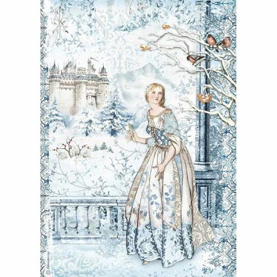 Rispapper Stamperia A4 - Winter Tales - Fairy in the Snow