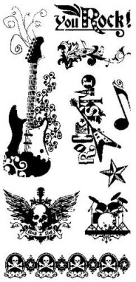 Clearstamps Inkadinkado - Rock Star
