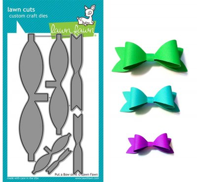 Dies Lawn Fawn Cuts - Put A Bow On It - Rosetter