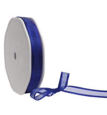 Band Organza Edge Prego 10mm - Royal Blue