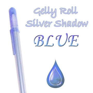 Gelly Roll Penna - Silver Shadow Blue
