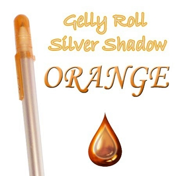 Gelly Roll Penna - Silver Shadow Orange