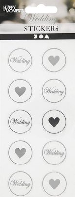 Stickers Sigill Mix i Silver 20 st - Happy Moments
