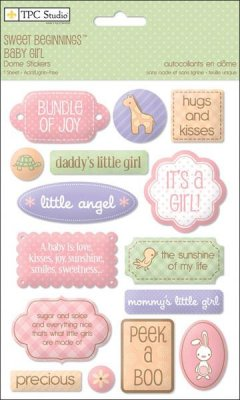 Stickers - Sweet Beginnings Girl Dome