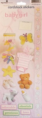 Cardstock Stickers - Baby Girl - Paper House