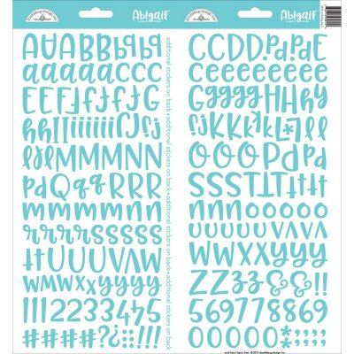Alfabet Stickers - Doodlebug - Abigail Font - Swimming pool