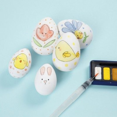Påskägg med handmålade akvarellmotiv - Påskpyssel Tips - Tema - Påsk ... 4cc8e92fbe806
