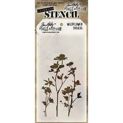 Schablon Tim Holtz - Wildflower