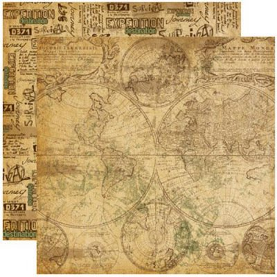 Papper Reminisce - Expedition Destination - World Map