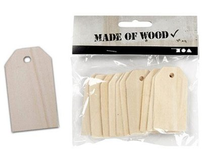 Tag Plywood 10 st - 60x30 mm