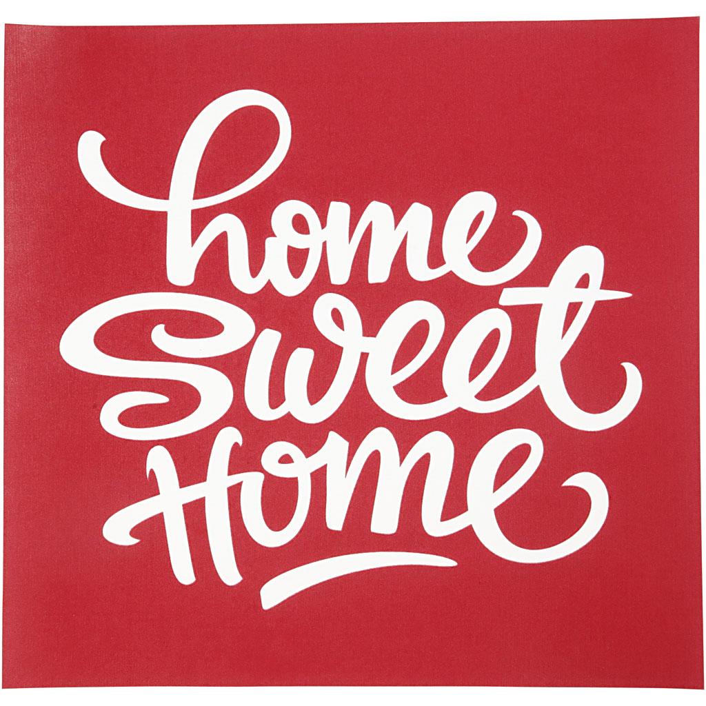 screenstencil schablon home sweet home 20x22 cm stencil schablon tillbeh r m la. Black Bedroom Furniture Sets. Home Design Ideas