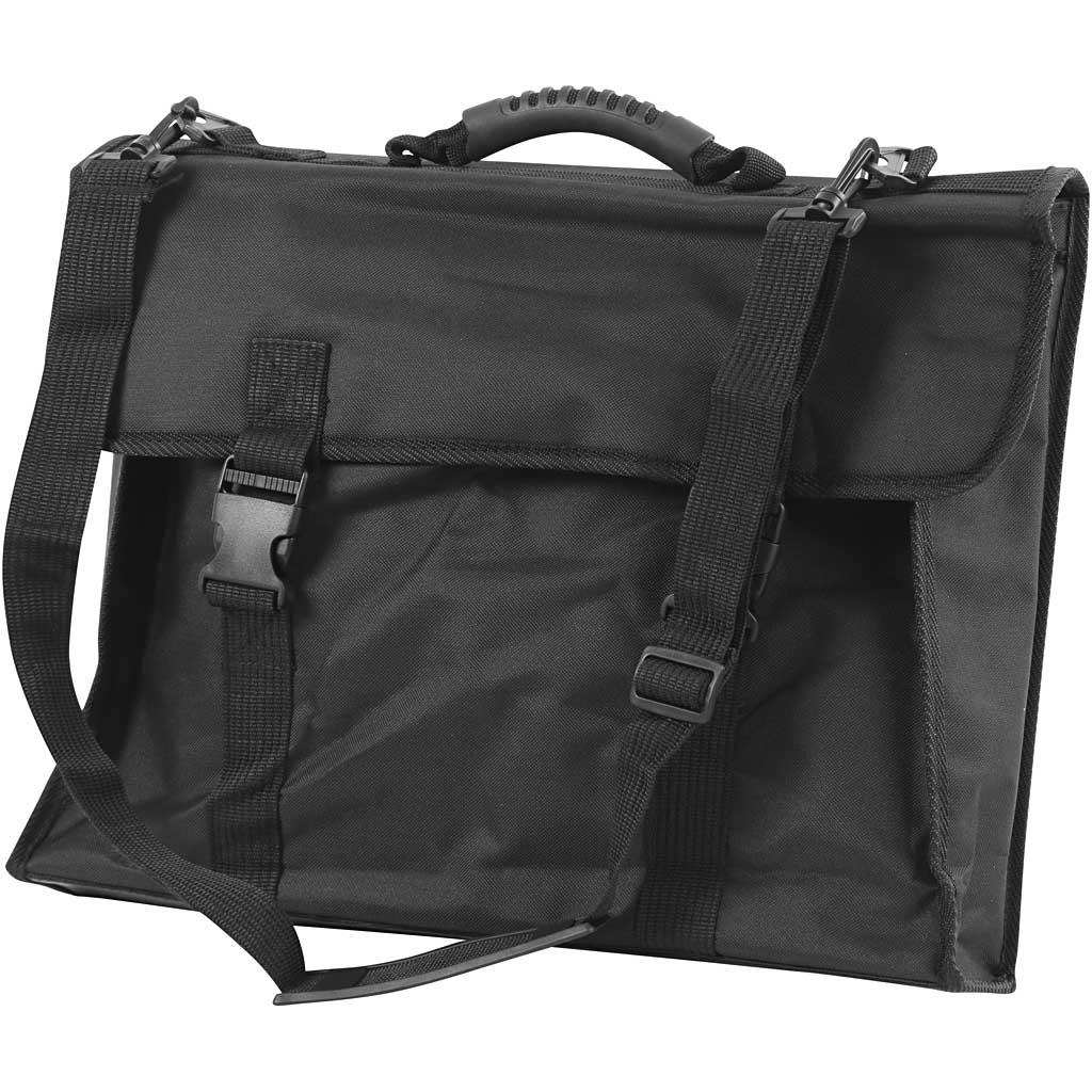 Portfolio Väska A3 stl. 46x36 cm Svart Med penhållare