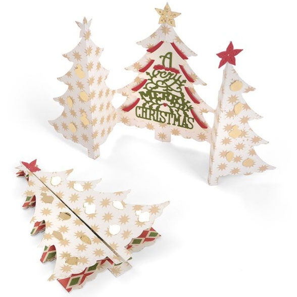 Sizzix Thinlits Die Christmas Tree Fold A Long Card