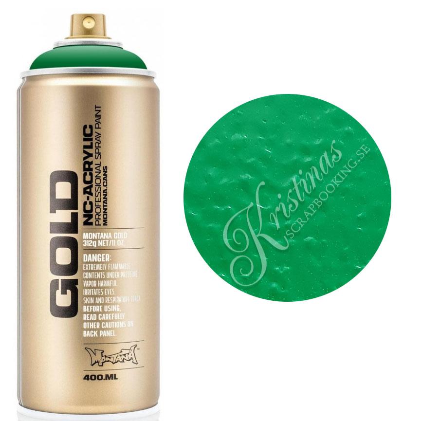 Montana GOLD Sprayfärg Shock Green 400 ml Mörkgrön
