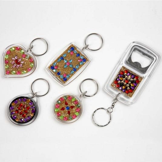 ... Nyckelringar med kapsylöppnare - 5 st - 8 x 4 f259e32119cdb
